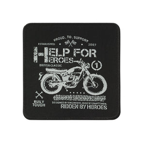 Help for Heroes Bike Silhouette Woven Badge