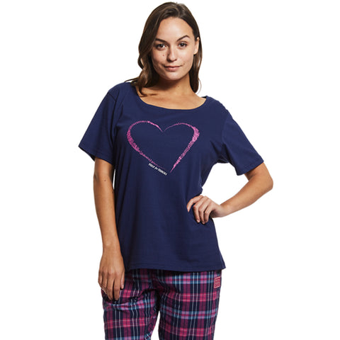 Help for Heroes Heart and Check Pyjama Set