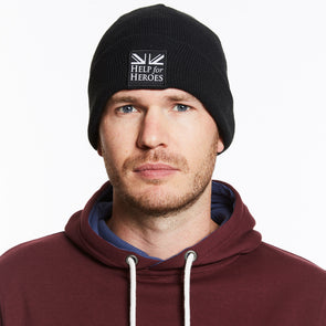 Help for Heroes Black Snowdon Beanie