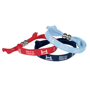 Help for Heroes Dare Shoelace Wristbands 3 pack