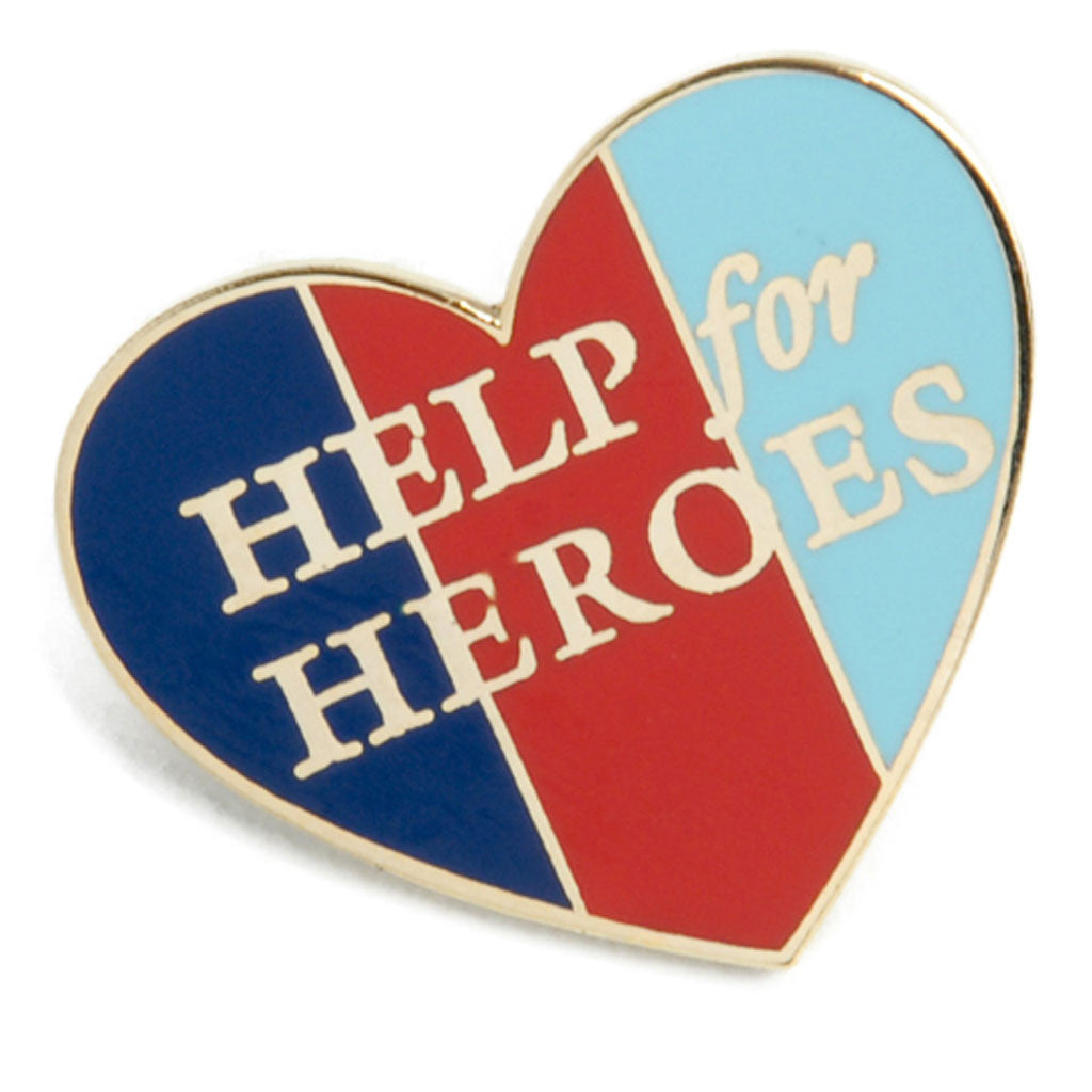 Help for Heroes Heart Pin