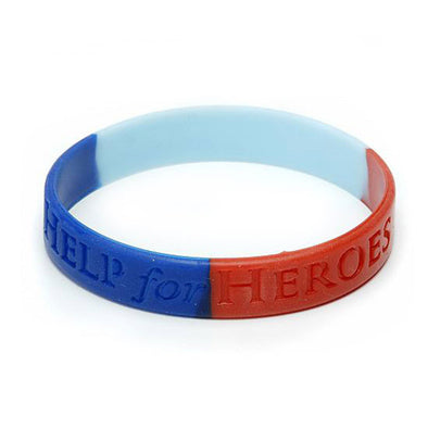 Help for Heroes Medium Silicone Wristband