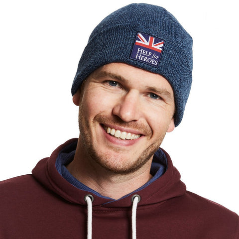 Help for Heroes Navy Marl Scafell Beanie