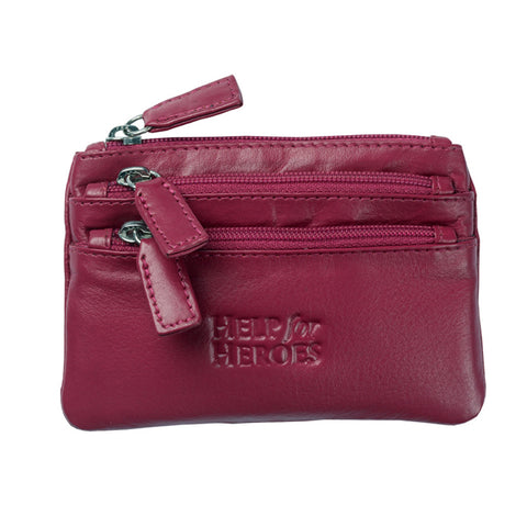 Help for Heroes Women's Pink Leather Coin Purse