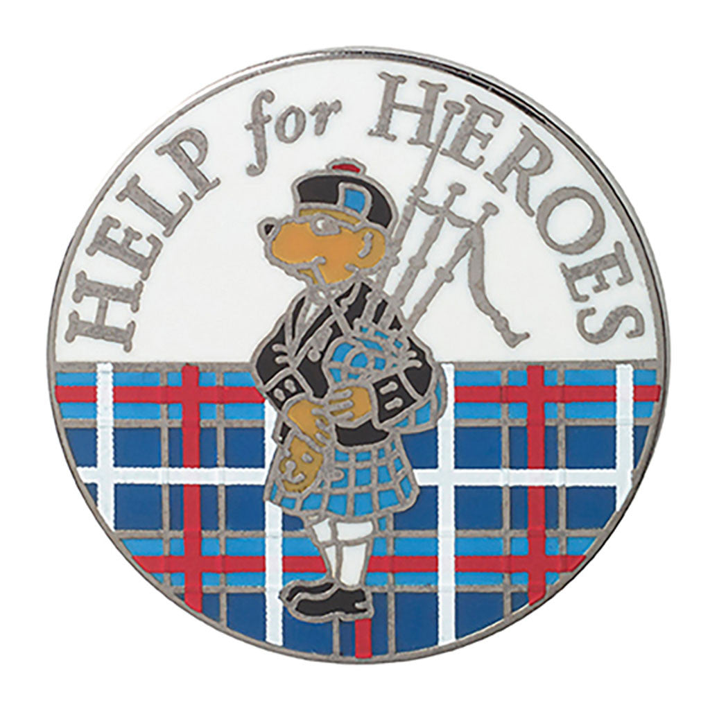 Help for Heroes Scottish Bear Pin