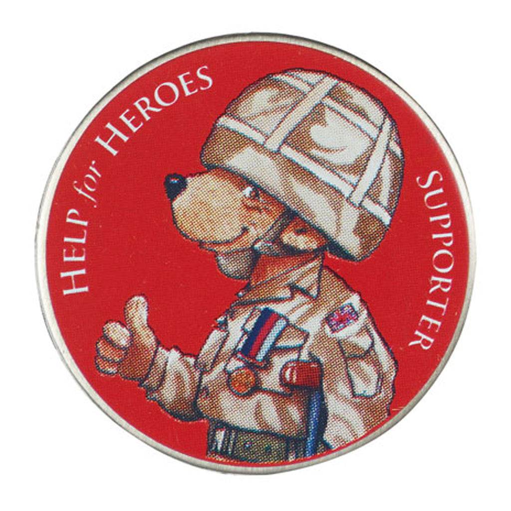 Help for Heroes Supporter Bear Pin