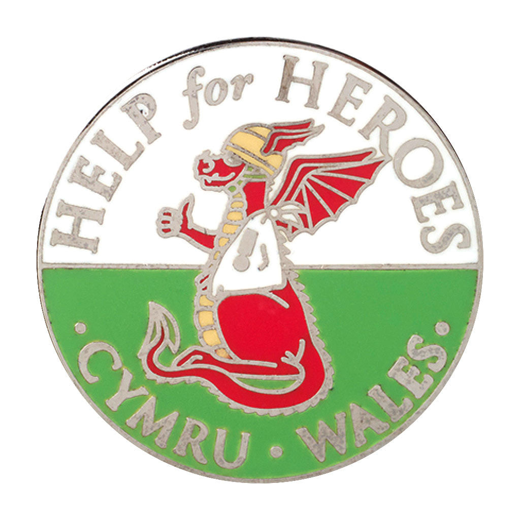 Help for Heroes Welsh Dragon Pin