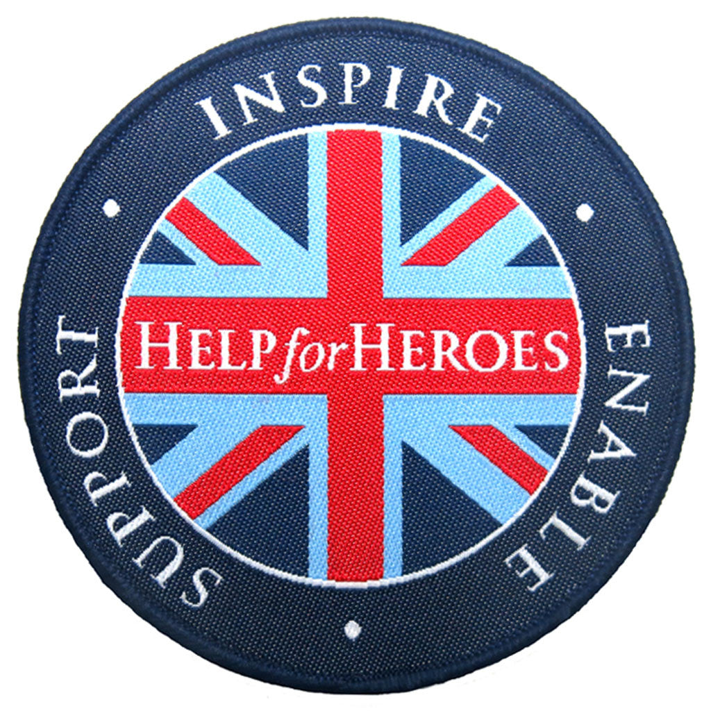 Help for Heroes Flag Woven Badge