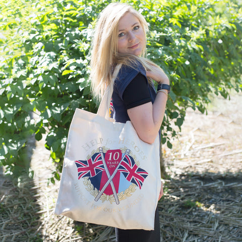Help for Heroes 10th Anniversary Shopper Bag