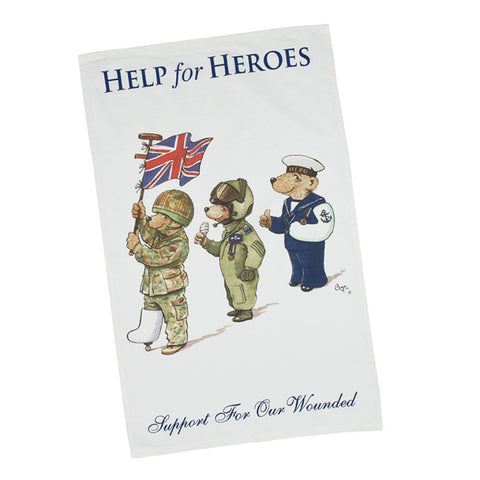 Help for Heroes Bears on Parade Tea Towel