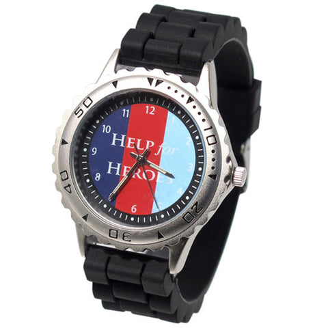 Help for Heroes Casual Black Tri Colour Watch