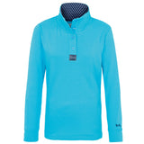 Blue Button Neck Sweatshirt