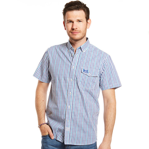 Navy and Teal Check Shirt