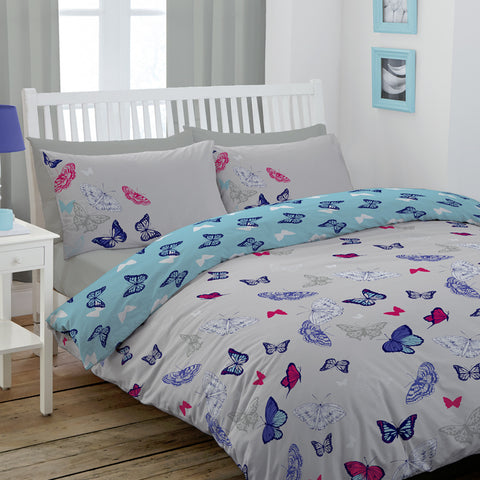 Butterfly Super King Duvet Cover Set