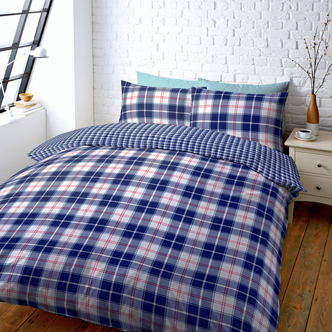 Checked Duvet Cover King Size