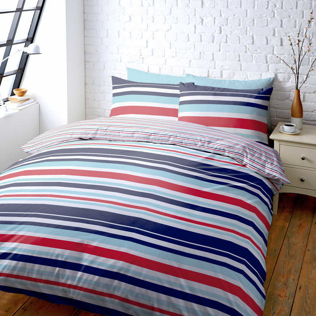 Help for Heroes Striped Super King Duvet Cover