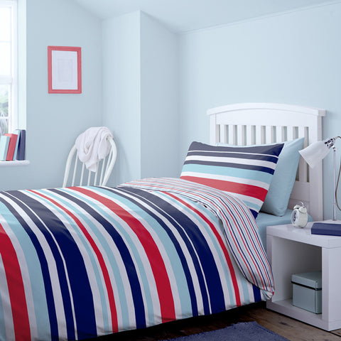 Help for Heroes Striped Single Duvet Cover Set