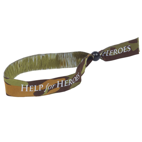 Help for Heroes camo festival wristband
