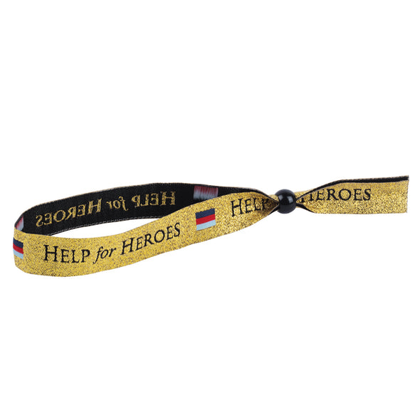 Help for Heroes Gold Festival Wristband