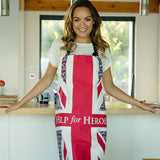 Help for Heroes Floral Flag Apron