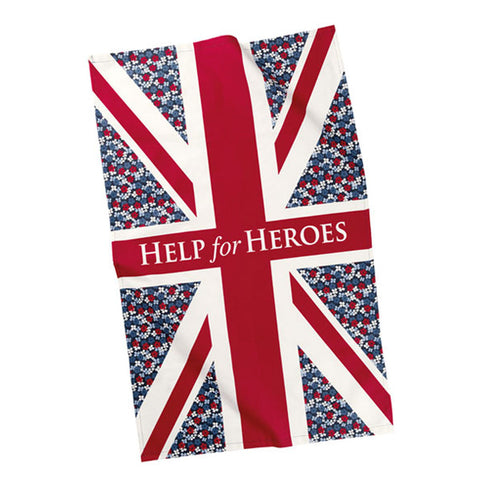 Help for Heroes Floral Flag Tea Towel