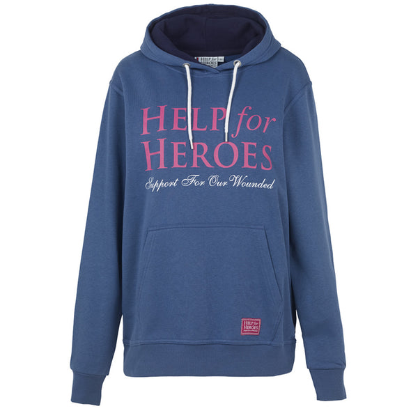 Help for Heroes Women's Pull on Hoody in Blue