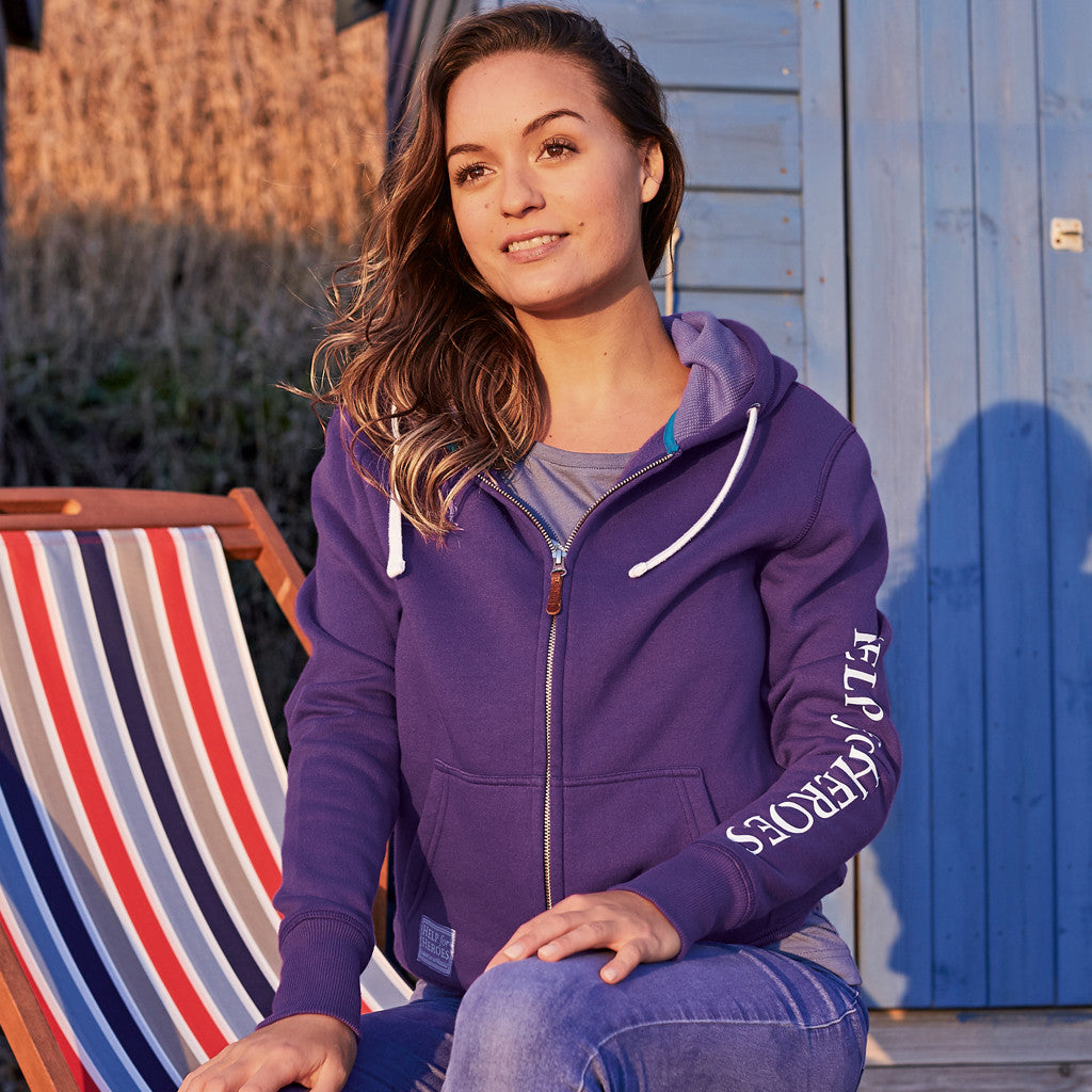 Help for Heroes Women's Purple Zipped Hoody