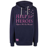 Help for Heroes Navy Meadow Butterfly Hoody