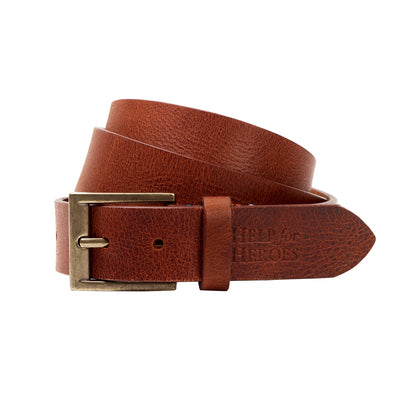 Help for Heroes Brown Leather Belt