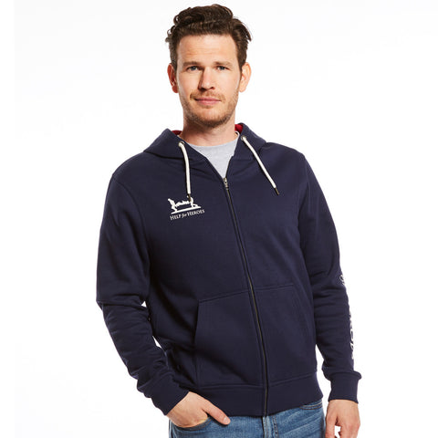Help for Heroes Navy Catterick Zipped Hoodie with Red