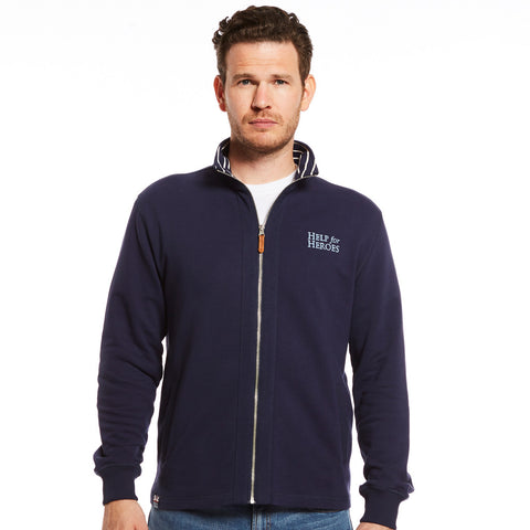 Help for Heroes Funnel Neck Zipped Sweatshirt