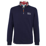 Navy Sweatshirt with Union Jack Collar