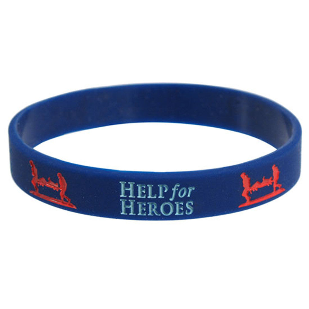 Help for Heroes navy wristband