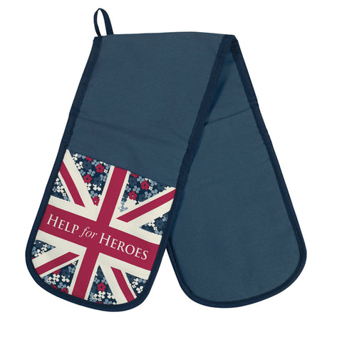 Help for Heroes Floral Flag Oven Glove
