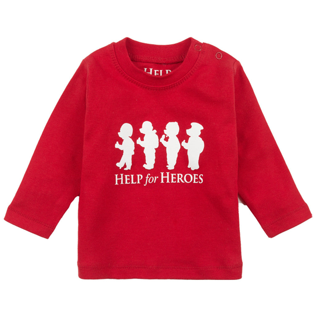 Help for Heroes Red Bears in a Row Baby T-shirt