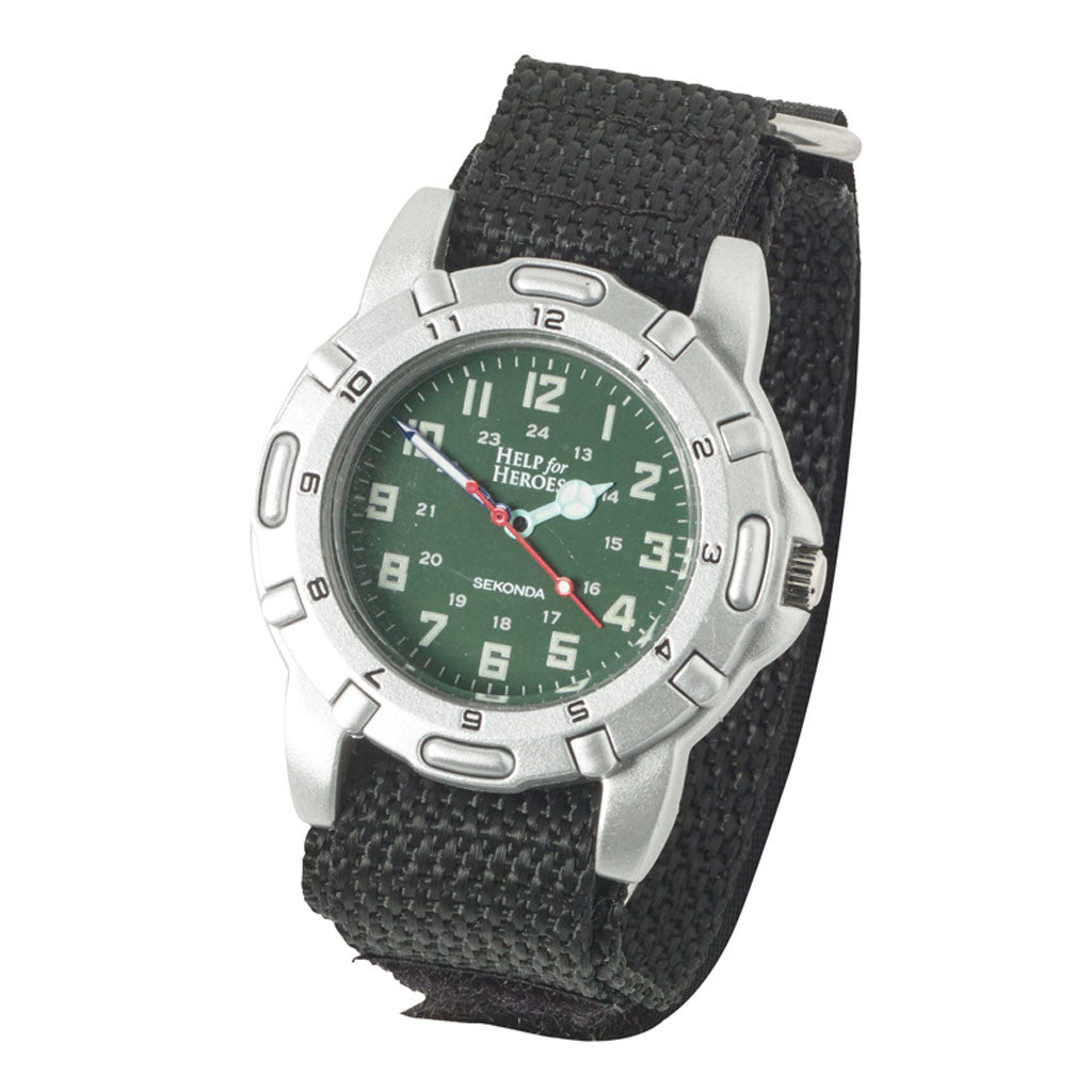 Help for Heroes Black Watch with Canvas Strap