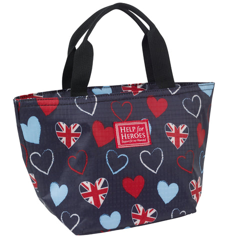 Help for Heroes Tri-Heart Lunch Bag