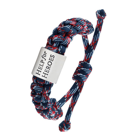 Help for Heroes Pursuit Cord Bracelet in Tri-Colour
