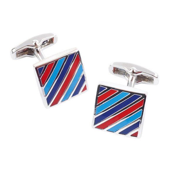 Help for Heroes Diagonal Tri-Stripe Cufflinks