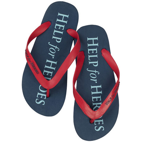 Help for Heroes Tri-Colour Flip Flops