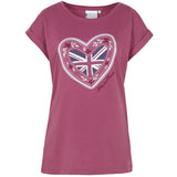 Help for Heroes Damson Olivia Heart T-shirt