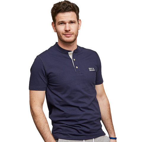 Help for Heroes Navy Henley Downton T-Shirt