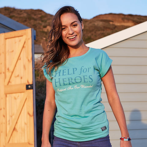 Help for Heroes Turquoise Venture T-shirt