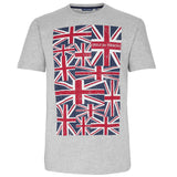 Grey Marl Flag T-shirt