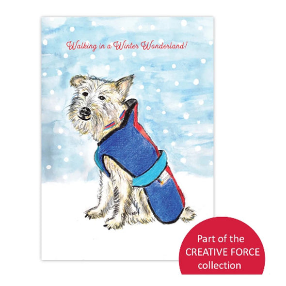 Help for Heroes Walking in a Winter Wonderland Christmas Cards - pack of 10