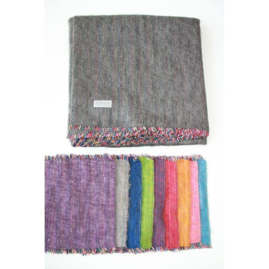 100% Alpaca Full Blanket in Heather Purple-Home - Throws & Blankets-Cabin Measures-Très Elite