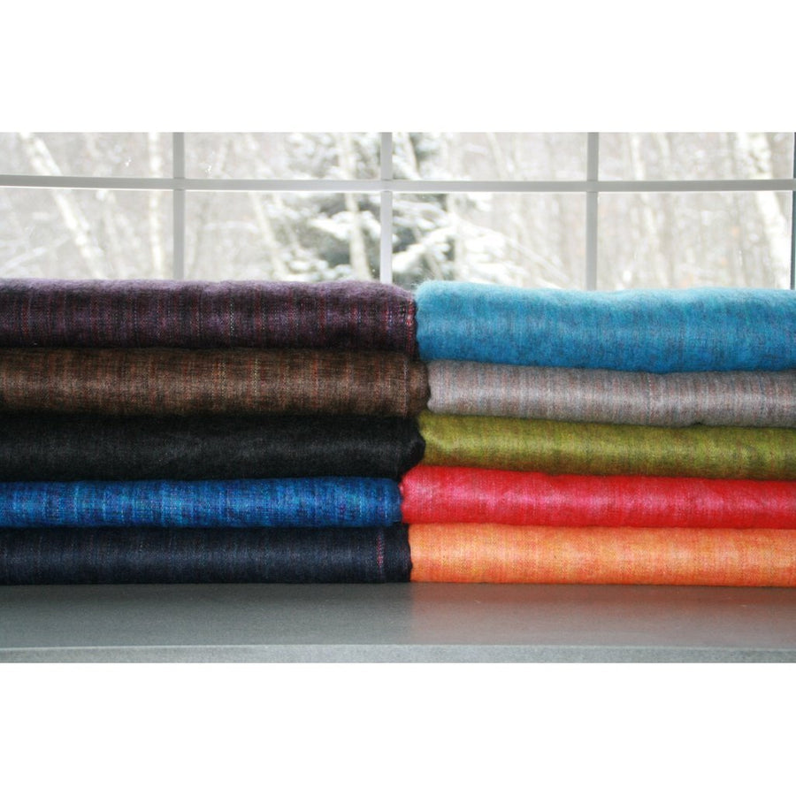 100% Alpaca Full Blanket in Turquoise-Home - Throws & Blankets-Cabin Measures-Très Elite