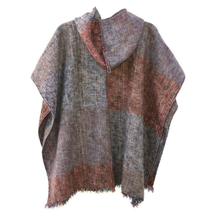 100% Alpaca Poncho in Grove