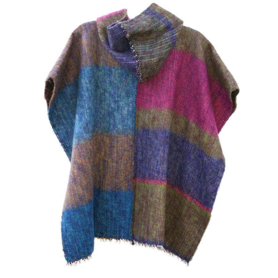 100% Alpaca Poncho in Multi
