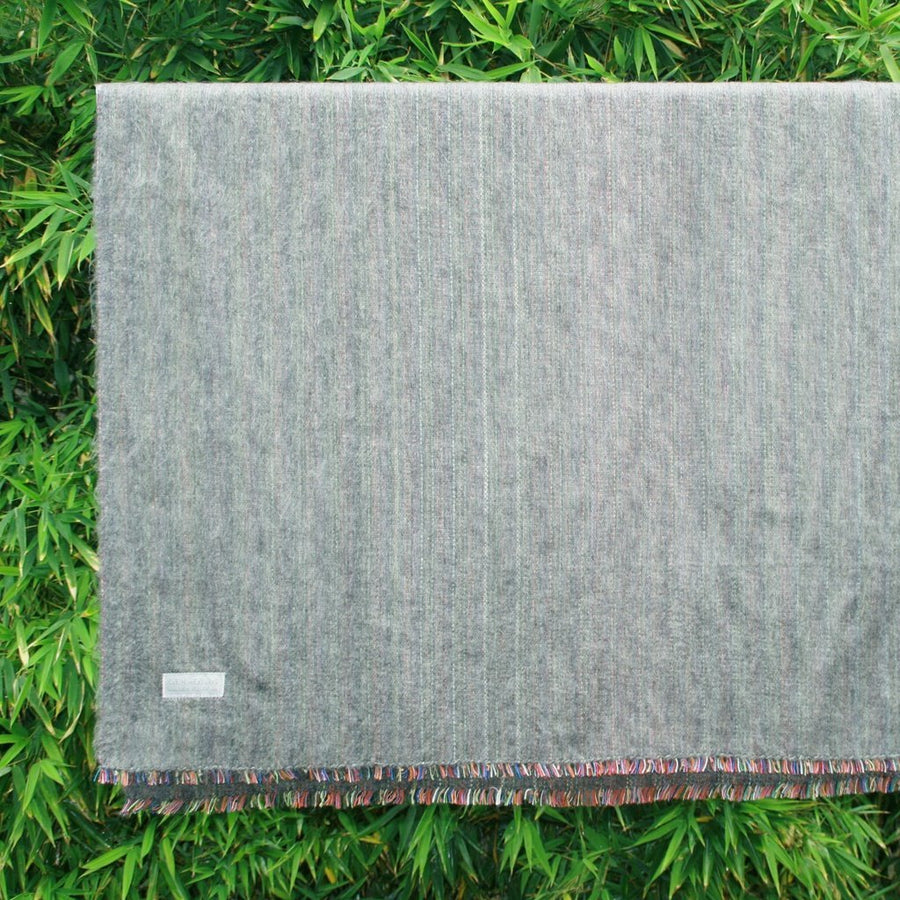 100% Alpaca Travel Blanket in Charcoal-Home - Throws & Blankets-Cabin Measures-Très Elite